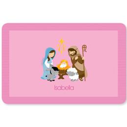 Nativity Set on Pink Kids Placemat