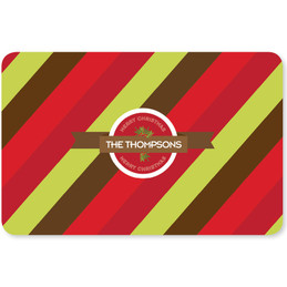 Xmas Bold Lines Holiday Placemat