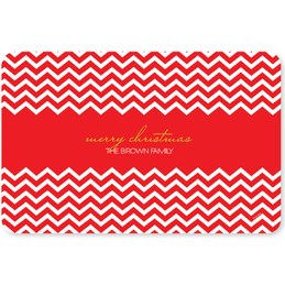 Fancy Red Zig Zags Holiday Placemat