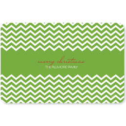 Fancy Green Zig Zags Holiday Placemat