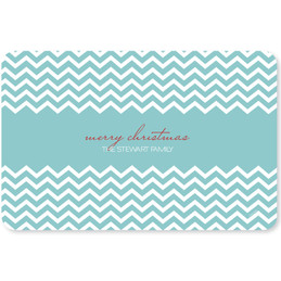 Fancy Blue Zig Zags Holiday Placemat