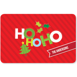 Ho ho ho Xmas is Here Holiday Placemat