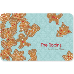 Yummy Xmas Cookies Holiday Placemat