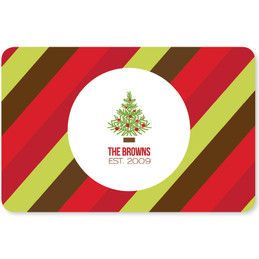 Fancy Xmas Tree Holiday Placemat