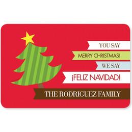 Feliz Navidad Holiday Placemat