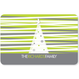 Modern Xmas Lines Holiday Placemat