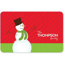 The Snowman is Here Holiday Placemat