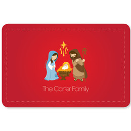Sweet Red Nativity Holiday Placemat