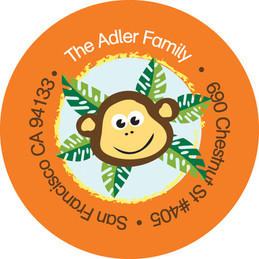 Cute Address Labels Playful Monkey