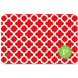 Elegance in Red Quatrefoil Holiday Placemat