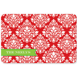 Red Damask Wonder Holiday Placemat