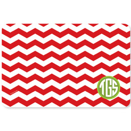 Chevron and Initials Holiday Placemat