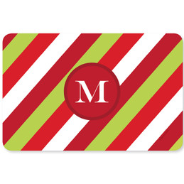 Bold Xmas Stripes Holiday Placemat