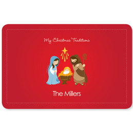 The Nativity Tradition Holiday Placemat