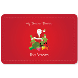 Santa's Tradition Holiday Placemat