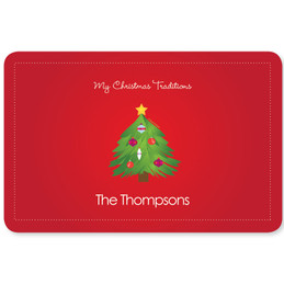 The Christmas Tree Tradition Holiday Placemat