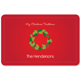 A Modern Wreath Holiday Placemat