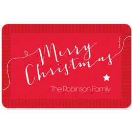 Merry Christmas Message Holiday Placemat