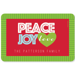 Peace, Joy and Love Holiday Placemat
