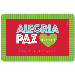 Alegria, Paz y Amor Holiday Placemat