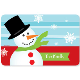 Mr. Snowman Holiday Placemat
