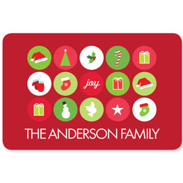 Christmas Symbols Holiday Placemat