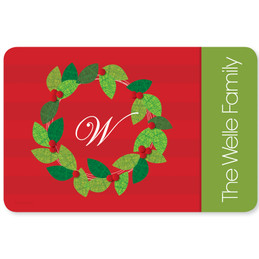 Elegant Wreath Holiday Placemat