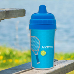 Kids Sippy Cups with Tennis Design