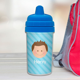 Just Like Me Boy-Light Blue Sippy Cup