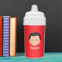 Just Like Me Boy-Red Sippy Cup