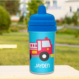 Cool Firetruck Toddler Sippy Cups