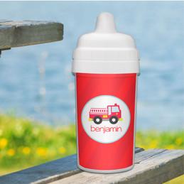 Cute Little Firetruck Sippy Cup