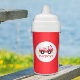 Cute Little Firetruck Baby Sippy Cup