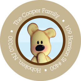 Baby Address Labels - Cute Teddy Bear (Blue)