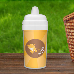 Cute Baby Cheetah Custom Sippy Cups