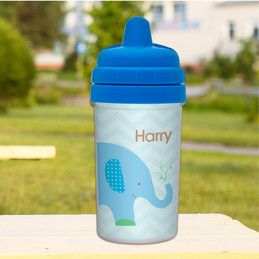 Elephant Personalized Toddler Sippy Cups