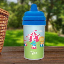 Fun Circus Personalized Baby Sippy Cups
