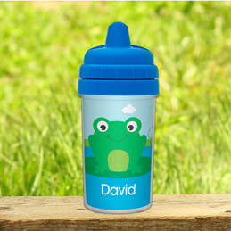 Cute Smiley Frog Boy Sippy Cups