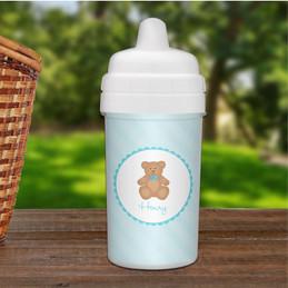 Cute Blue Teddy Bear Sippy Cup