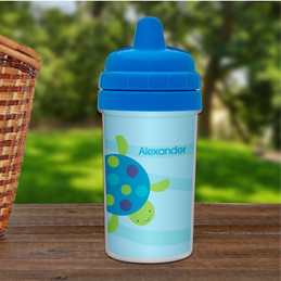 Swimming Blue Turtle Transition Sippy Cup