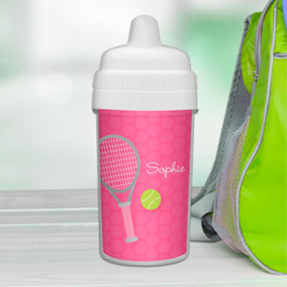 Pink Tennis Fan Sippy Cup for Milk