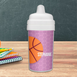 Basketball Fan Personalized Kids Sippy Cups