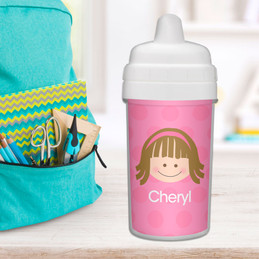 Just Like Me Girl Pink customized sippy cups