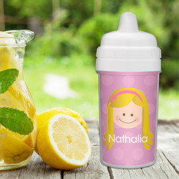Just Like Me Girl Lavender custom sippy cup