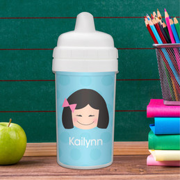Just Like Me Girl Light blue sippy cup for girls