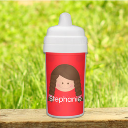 Just Like Me Girl Red toddler sippy cup
