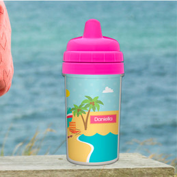 Beach Personalized Sippy Cups for Toddlers
