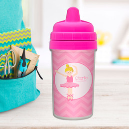 Sweet Ballerina Personalized Sippy Cup