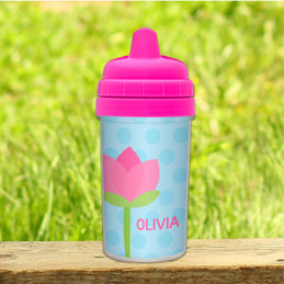 Tulip Personalized Sippy Cup for Toddlers
