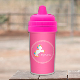 Playful Pony personalized sippy cup baby